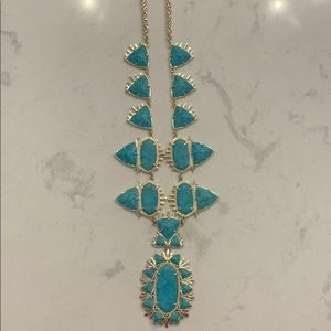 Kendra Scott Long Turquoise Necklace